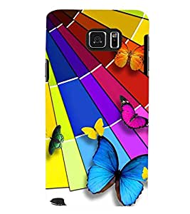 Printvisa Assorted Butterfly Pattern Back Case Cover for Samsung Galaxy Note 5 N920