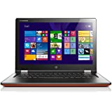 Lenovo Yoga 2-13 33,8 cm (13,3 Zoll FHD IPS) Convertible Ultrabook (Intel Core i3 4010U, 1,7GHz, 4 GB RAM, 500GB HDD, Intel HD Graphics 4400, Touchscreen, Win 8.1) clementine orange