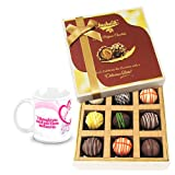 Alluring Collection Of Truffles With Love Mug - Chocholik Luxury Chocolates