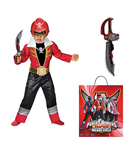 Power Rangers Super Megaforce Red Ranger Toddler Boys full Costume