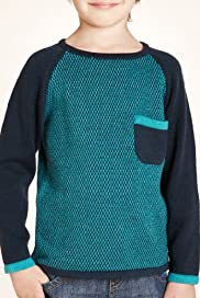 Limited Pure Cotton Raglan Sleeve Knitted Jumper [T88-2589F-S]