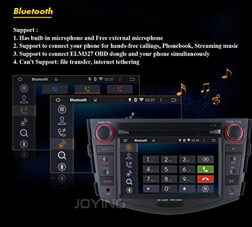 JOYING Android 4 4 4 Quad Core 7 Inch 1024*600 Resolution Hd Capacitive  Multi-touch Screen Car DVD Player for Toyota Rav4 2006 2007 2008 2009 2010