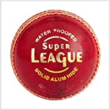 Kolagen Sports Super League Red Leather Cricket Ball- Pack Of 2 Balls