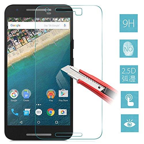 【ShineZone】【近接センサー対策品】Google LG Nexus 5X 専用強化ガラスフィルム 0.3mm 超薄型.表面硬度9H・ラウンド処理・飛散防止処理・ 高透過率 ・撥油性保護フィルム
