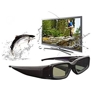 Excelvan Active Shutter 3D Glasses for Sharp AQUOS 3D TV