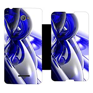 Skintice Designer Flip Cover with Vinyl wrap-around for Sony Xperia E4, Design - abstract