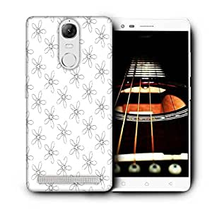 Snoogg Floral Grey Pattern Printed Protective Phone Back Case Cover For Lenovo K5 Note