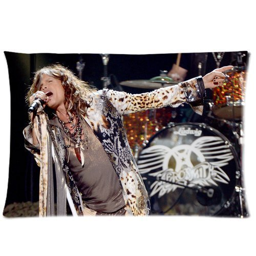 Custom Aerosmith Steven Tyler Pillowcase Soft Zippered Throw Pillow Cover Cushion Case Covers Fasfion Design Two Sides Printed 20x26 Inches