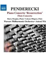 """Penderecki : Concerto pour piano """"Résurrection"""" - Concerto pour flûte"""