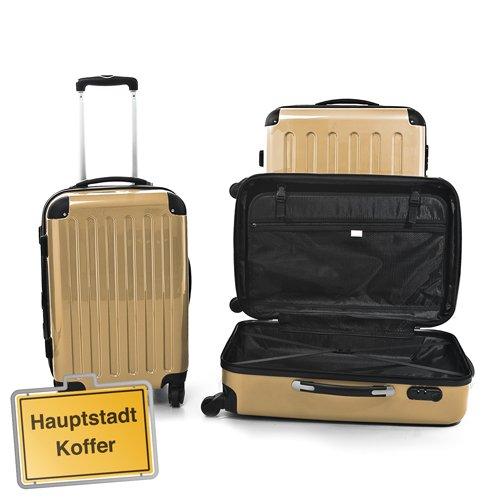 3er Set Hartschalen Koffer 4 x 360° Leichtlaufrollen,