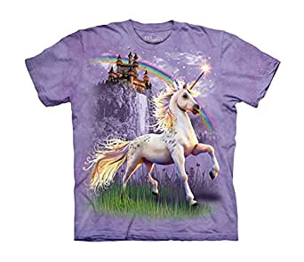 The Mountain Unicorn Castle Adult Size Small T-Shirt (Purple)