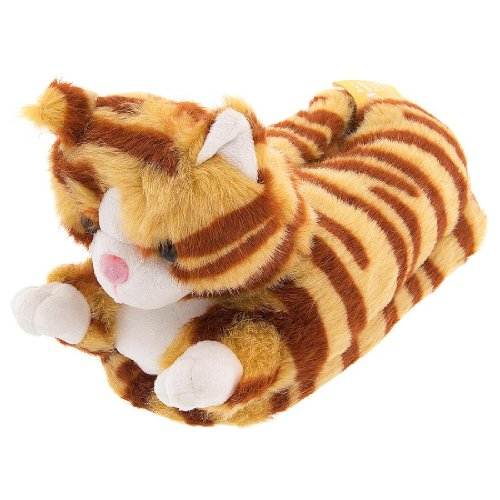 Orange Tabby Cat Animal Slippers for Women and Men Extra Large