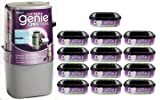 Litter Genie Plus Silver Cat Litter Disposal System and 12-Refills
