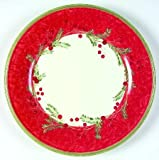 Lenox China Holiday Gatherings-Holiday Wreath Dinner Plate, Fine China Dinnerware