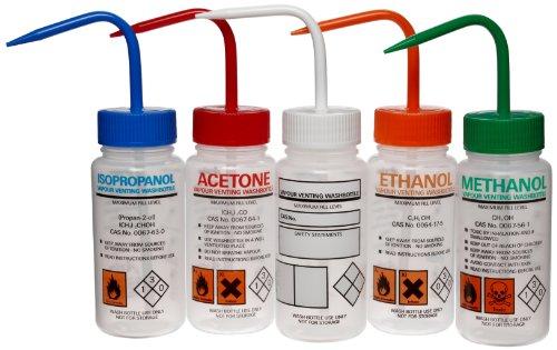 Azlon 506465-0006 500Ml Driplok Safety Vented Wash Bottle Assorted Set (Case Of 5) front-1013076