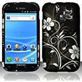White flowers design phone case for the Samsung Galaxy S II/SGH-T989 carrid by T-Mobile