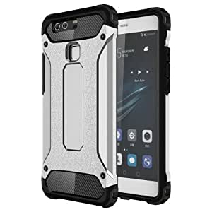Crazy4Gadget Huawei P9 Tough Armor TPU + PC Combination Case (Silver)