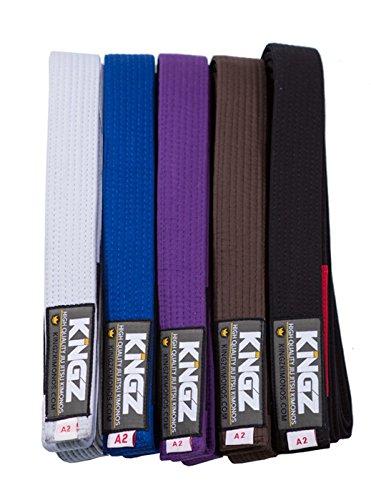 Kingz Deluxe BJJ Belts - Black - A3