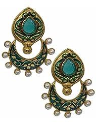 Akshim Blue Alloy Earrings For Women