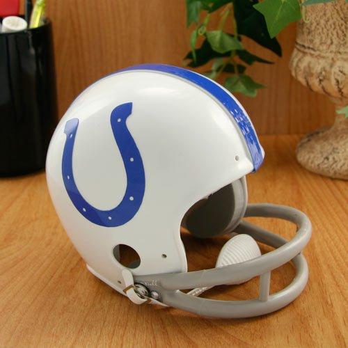 Indianapolis Colts 2 Bar Throwback Replica Mini Helmet