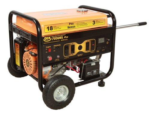 DEK Pro Series 10,000 Watt, Commercial Generator with Electric Start battery included
