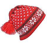 Luxury Divas Snowflake Print Wool Beanie Cap Hat