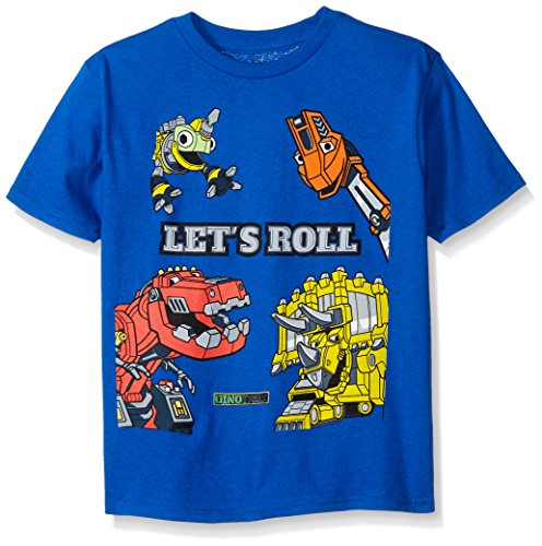Dinotrux Little Boys' Short Sleeve T-Shirt Shirt, Royal, Small/4