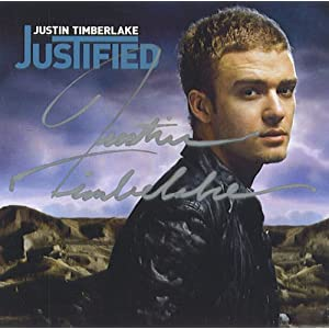 Justin Timberlake List on Amazon Com  Autographed Justin Timberlake Justified Cd Signed