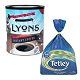 Lyons 750g Rich Roast Coffee + Tetley 440 Tea Bags MULTI-PACK SPECIAL
