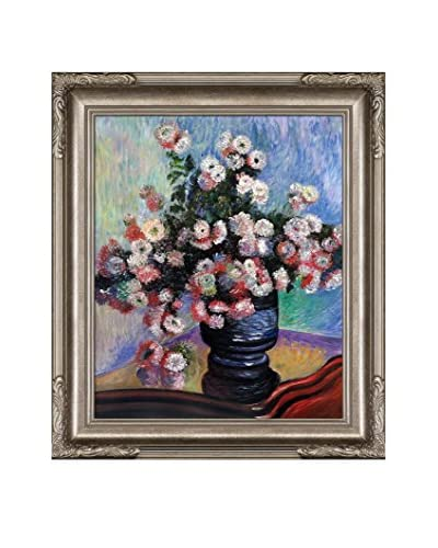 "Claude Monet ""Chrysanthemums"" Framed Hand-Painted Oil Reproduction"