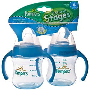 Pampers Natural Stages Airwave Venting System, Stage 4, Twin Pack, Pink/Blue, 7 Ounces