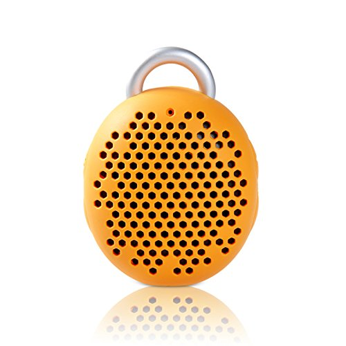 Remax® Dragonball Series - Wireless Dragon Ball Mini Travel Portable Bluetooth Speaker, Hd Voice, Polymer Battery, Tpu Cover Anti-Shock Anti-Skid With Carabiner And Micro Usb Cable (Yellow)