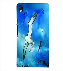 PRINTSWAG FLYING BIRD Designer Back Cover Case for HUAWEI P6