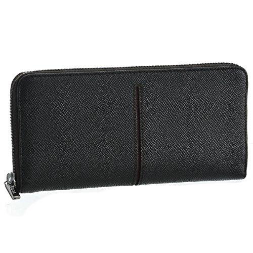 TOD'S(トッズ) 財布 メンズ カーフスキン ラウンドファスナー長財布 ブラック×ボルドー CHA1400-DOU-0IO5 [並行輸入品]
