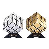 D-FantiX Shengshou Mirror Cube Set Mirror Block 3x3 Speed Cube Bundle Puzzle Silver Golden Pack of 2