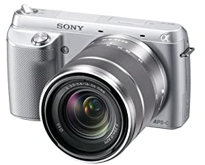 Sony NEX-F3K/S 16.1 MP Compact System Camera with 18-55mm Lens (Silver)