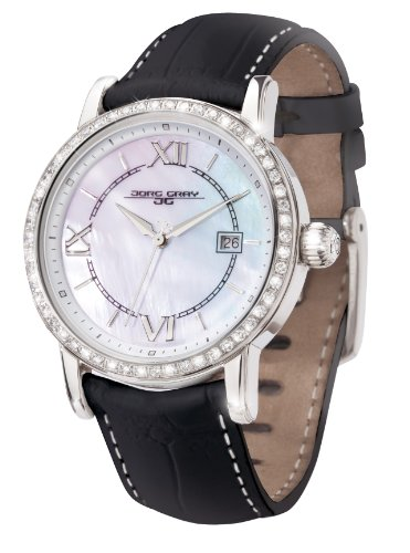 Jorg Gray Ladies Analogue Watch JG2400-14 with Mother Of Pearl Dial and Leather Strap