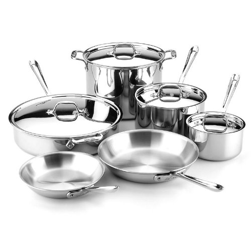 All-Clad 10-Piece Stainless Gourmet Cookware Set