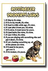 Rottweiler Property Laws Fridge Magnet No 1 Funny