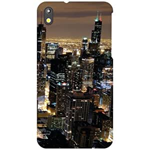 Htc Desire 816G-Heart Of City Matte Finish Phone Cover