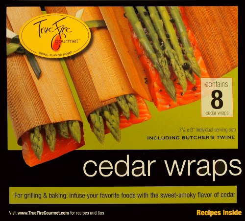 Buy TrueFire Gourmet TFWraps8-8 8-Pack 7.25 by 8-Inch Cedar Wraps with twine