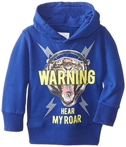 Diesel Boys 2-7 Swekky Tiger Hooded Pullover Sweatshirt, Mazarin Royal Blue, 3Y