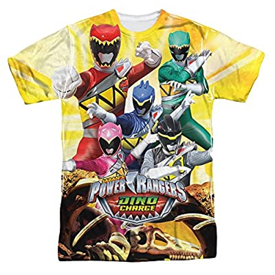 Power Rangers Dino Charge Charged For Battle - All Over Front T-Shirt