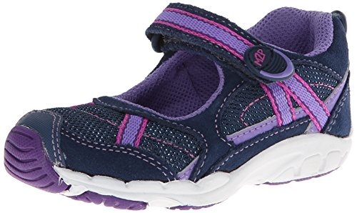 Stride Rite M2P Baby Robin Mary Jane (Toddler),Navy/Purple,8 W Us Toddler front-763040