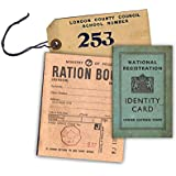 WW2 Replica Ration Book, Evacuee Tag and Identity Card