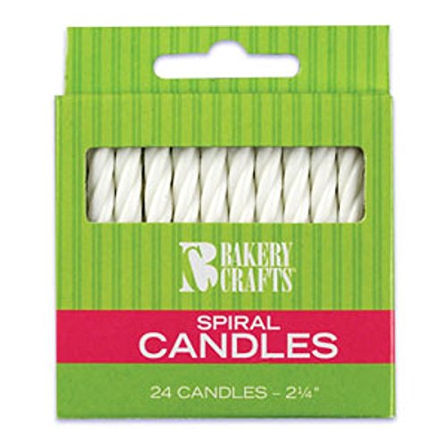 Oasis Supply Spiral Birthday Candles, 2.25-Inch, White - 1