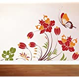 Decal Style Colorful Butterfly Wall Sticker Large Size- 28*19 Inch Color - Multicolor