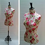 Hand-Crafted Shabby Rose Life Size Dressmakers Mannequin / Dummy with Shabby French Cast Iron Standby london Mannequins