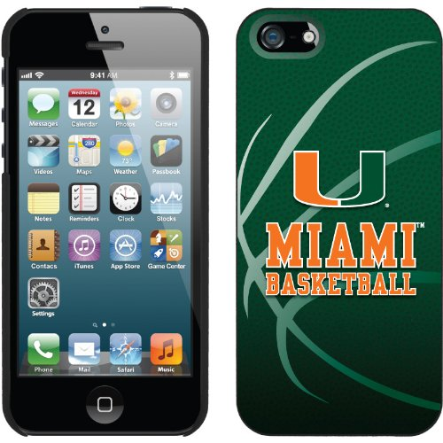 Great Sale Miami - Basketball design on a Black iPhone 5s / 5 Thinshield Snap-On Case by Coveroo