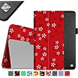 Fintie Apple iPad Air Folio Case - Slim Fit PU Leather Smart Cover with Auto Sleep / Wake Feature for iPad Air (iPad 5th Generation) 2013 Model, Floral Red